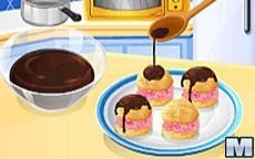 Koche mit Sara: Eiscreme-Windbeutel