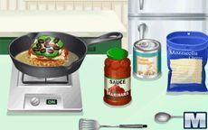 Koche mit Sara: Pizza-Hamburger