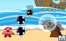 Las explosivas Bombas vs Cerdos Piratas