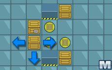 Puzzle mit Kisten